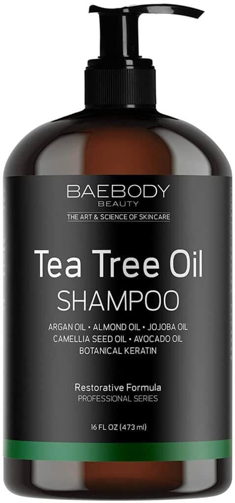 Best Dandruff Shampoos for Men - Baebody Tea Tree Oil Shampoo: Best for Dry Skin/Hair