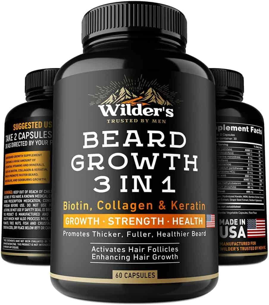 Beard Growth Pills - Thin & Patchy Beard Enhancement Supplement Review - By Bizarbin.com