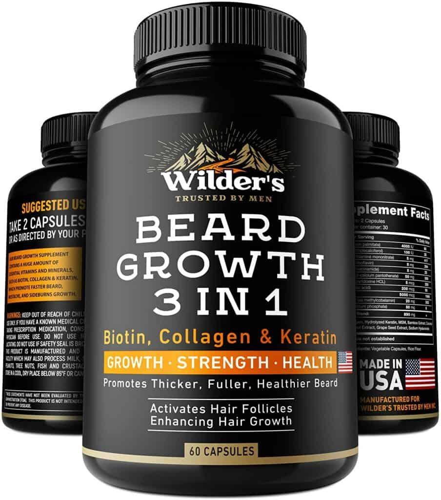 Beard Growth Pills - Thin & Patchy Beard Enhancement Supplement Review - By Bizarbin.com