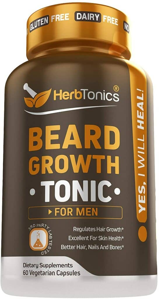 Beard Growth Vitamins Supplement for Men Review - By Bizarbin.com