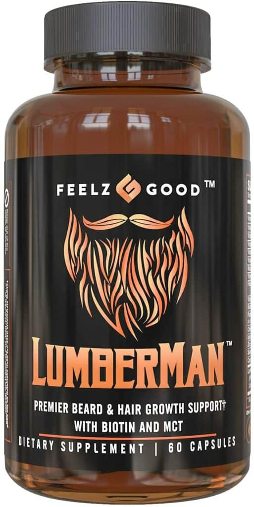 Lumberman Premier Beard Growth Vitamin Formula Review - By Bizarbin.com