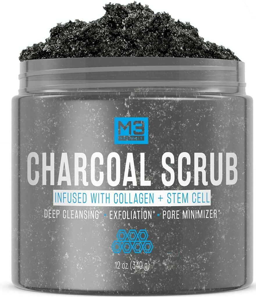 M3 Naturals Activated Charcoal Scrub For Men Review