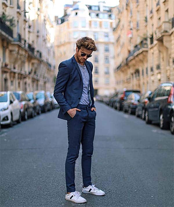 Sneakers with Suits