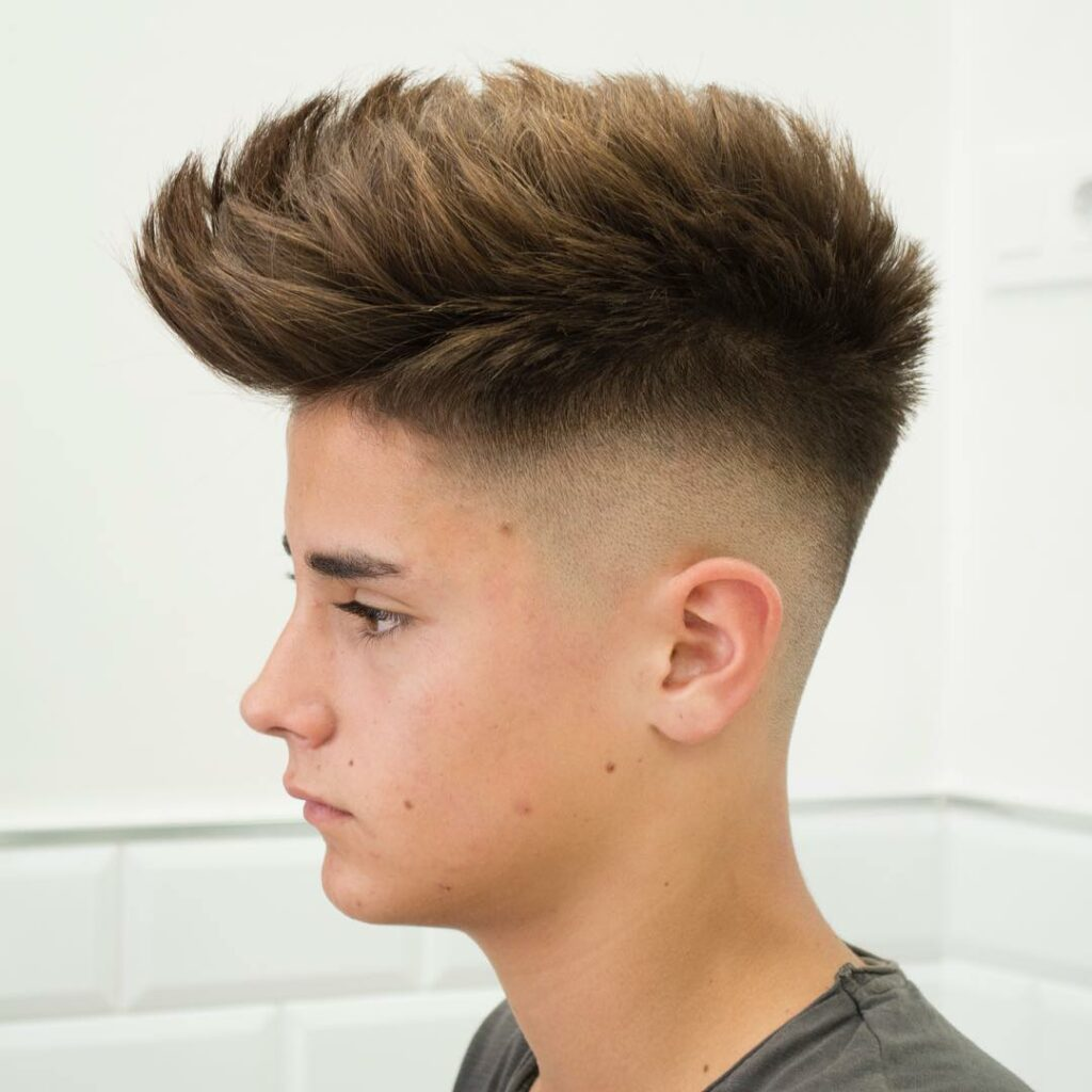 Pomp Hawk Teen Boy Haircuts