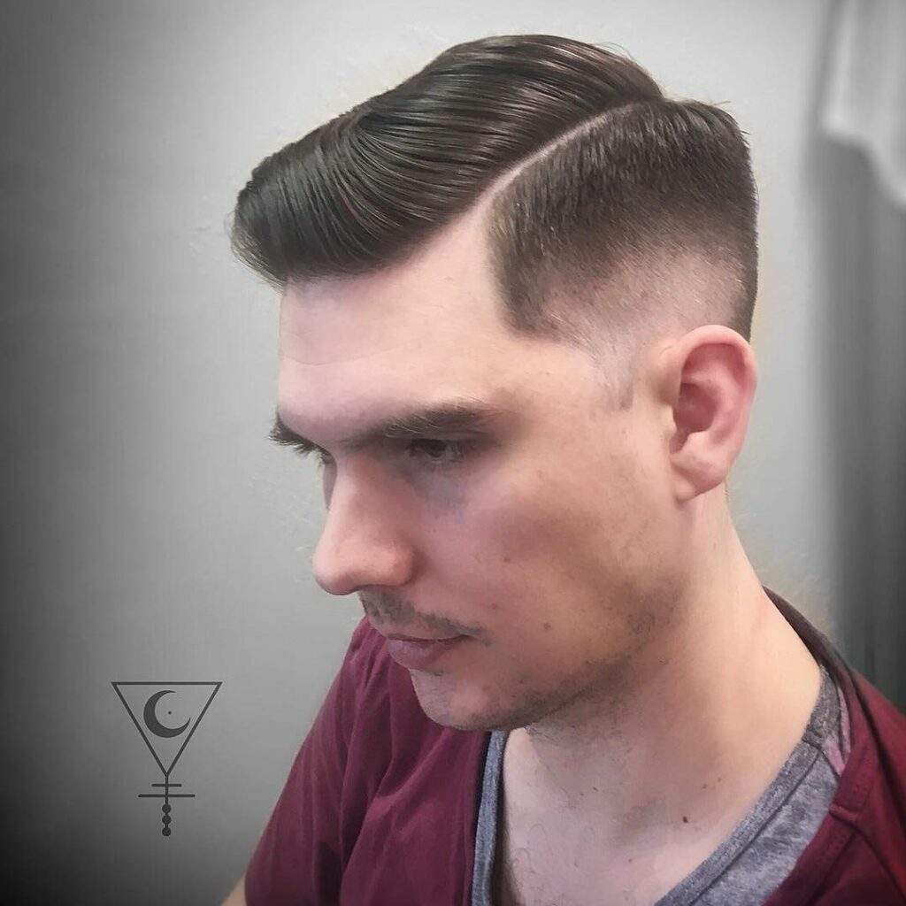 Side-Part Fade Haircut For Teenage Guys