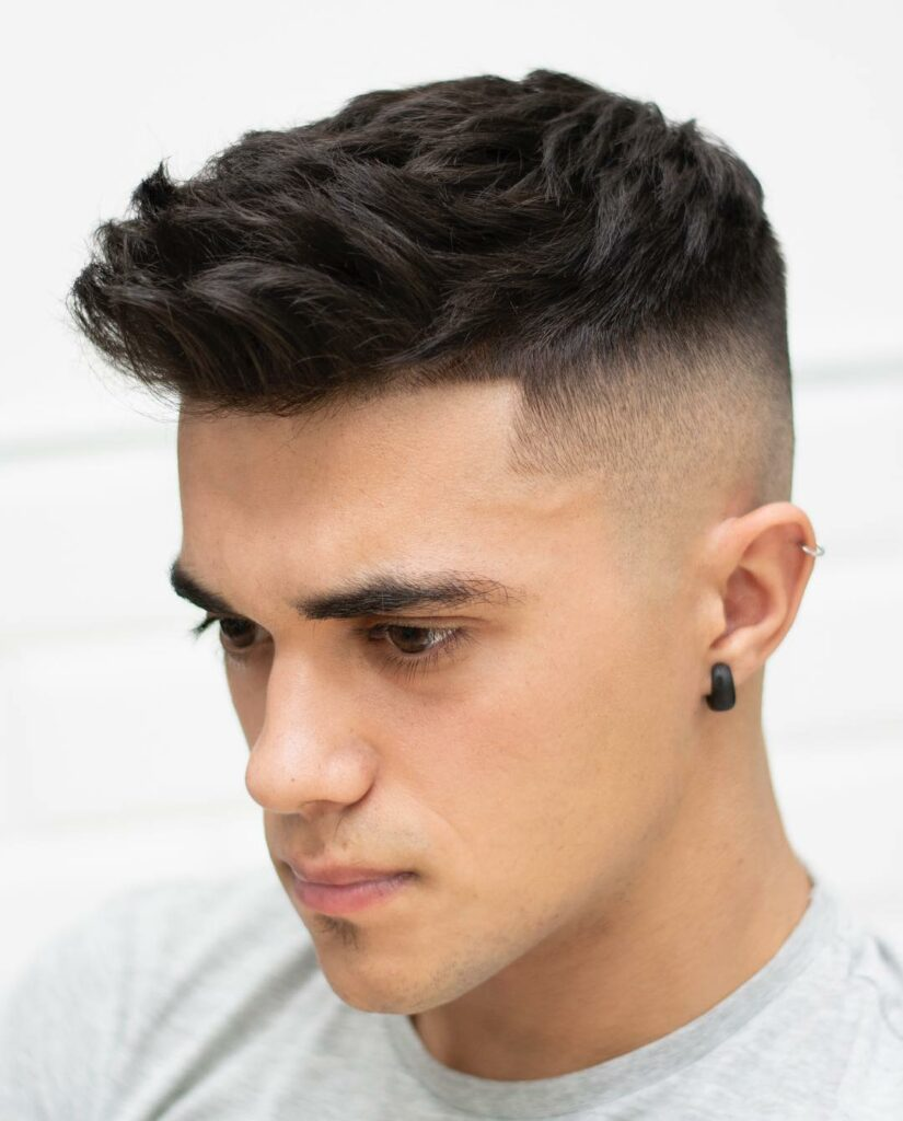 Spiky Texture High Fade - Teen boy haircuts