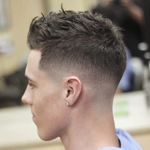 Textured Fade haircut for teenage guys