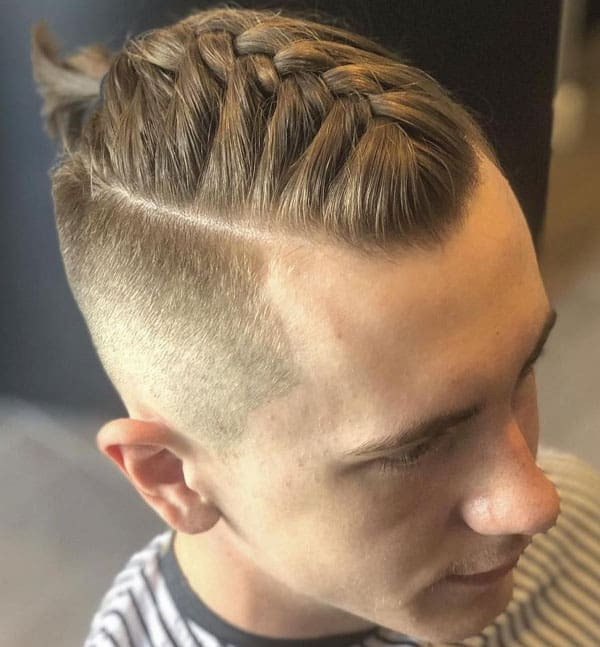 The Braids with Taper Fade Haircut
