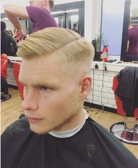 The Comb Over Taper Fade Haircut