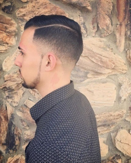 The Neat Comb Over and Taper Fade Haircut