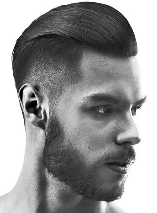 The Slick Back Taper Fade Haircut