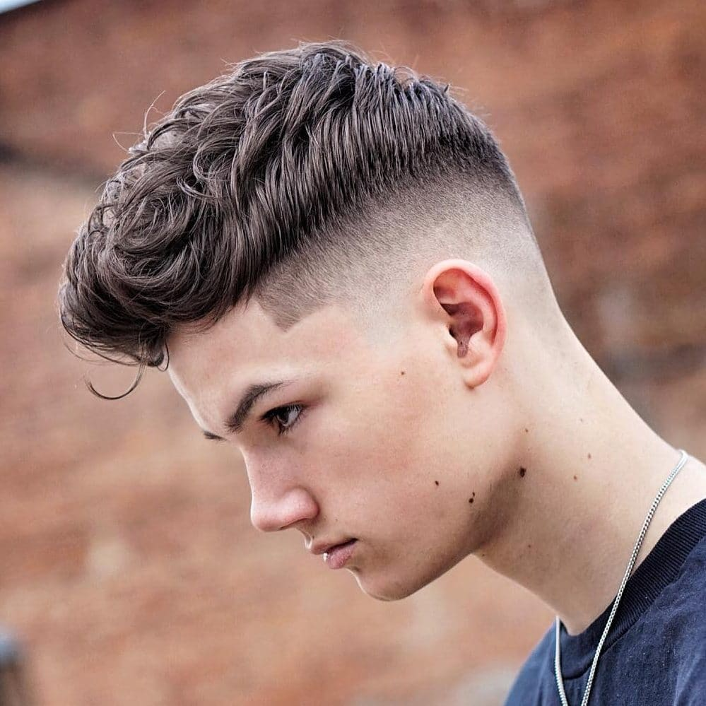 Wavy Crop Haircut - popular teen boy haircuts