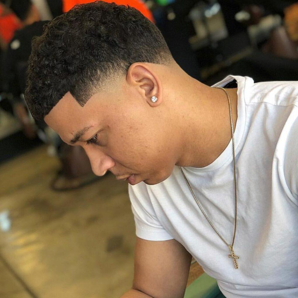 Lil Bibby Line-up fade haircut