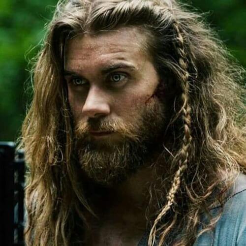 Rugged, Long Hair With a Beard