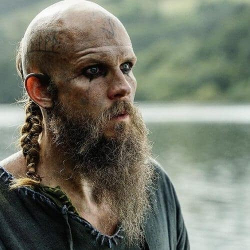 Shaved Head With A Beard And A Braid Viking Hairstyle
