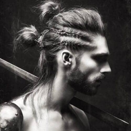 "The ""Double Braid & Double Bun"" Viking Mohawk Hairstyle"