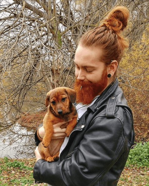 Topknot And A Full Beard