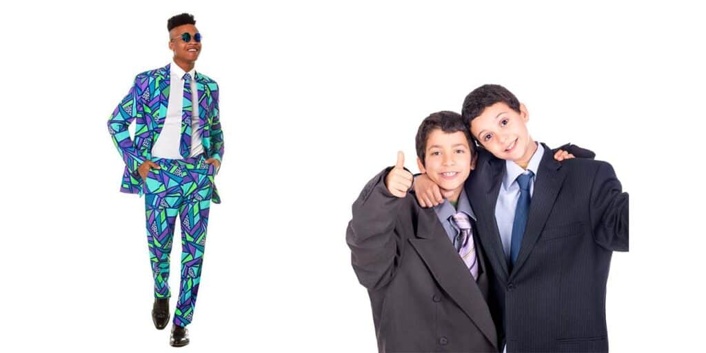 Brightly Colored and Ill-Fitting Suits